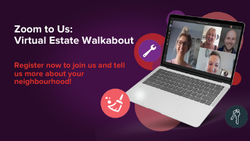 Virtual Estate Walkabout laptop